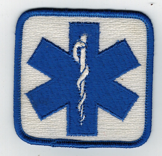 EMS PATCH BLUE AND WHITE