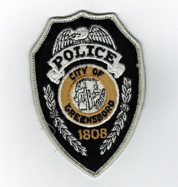 CITY OF GREENSBORO POLICE SHIELD TYPE PATCH