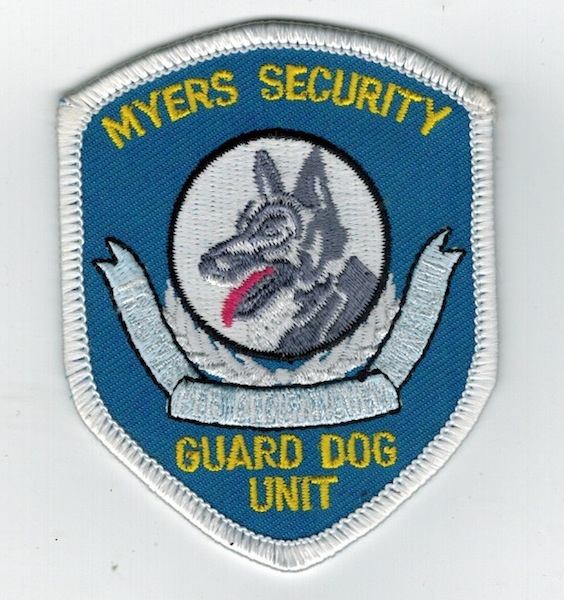 MYERS SECURITY GUARD DOG UNIT
