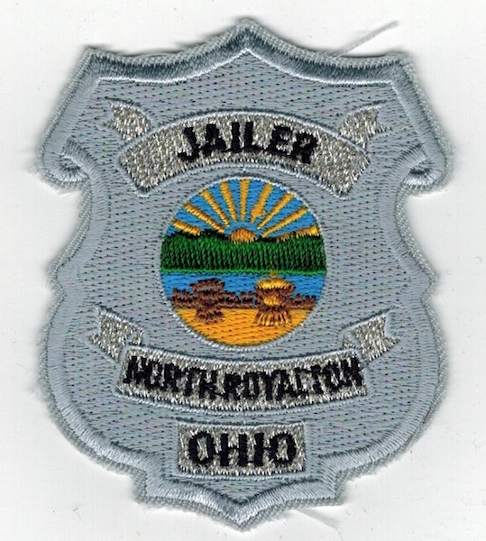 JAILER NORTH ROYALION OHIO BADGE PATCH